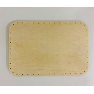 FOND RECTANGLE ARRONDI 30/20 CM CONTREPLAQUE