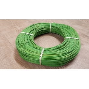 Rattan colour lime green 2 mm in coil 250 g