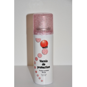 Vernis de finition pailleté rouge 125 ml