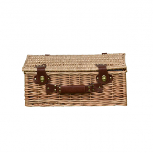 Picnic wicker suitcase with accessories