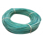 Flat oval rattan core blue turquoise in coil 250 g
