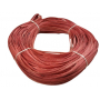 Flat oval rattan core red in coil 250 g