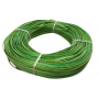 Flat oval rattan core lime green in coil 250 g
