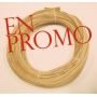 Flat oval rattan core 2 st quality 6 mm hank 500